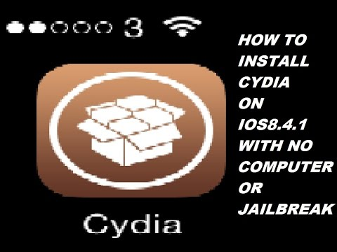 HOW TO INSTALL CYDIA ON IOS 8.4.1 WITH NO COMPUTER OR JAILBREAK