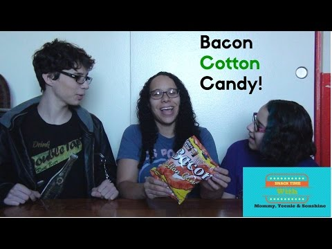 Snack Time: Lester Fixin's Bacon Cotton Candy Taste Test!