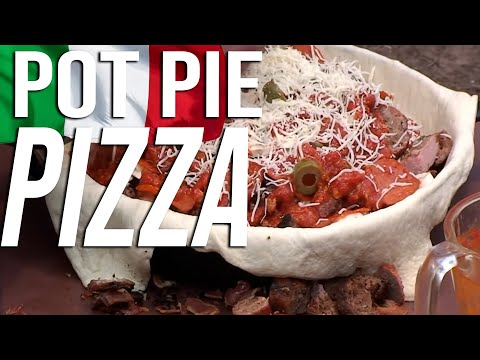 Black Iron Pizza Pot Pie recipe by the BBQ Pit Boys