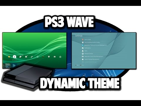 [PS4 THEMES] PS3 Wave Dynamic Theme Video in 60FPS
