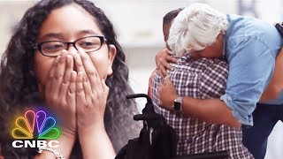 Jay Leno Has A Big Surprise For This Disabled Veteran | Jay Leno's Garage | CNBC Prime