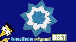 3D Paper Snowflake Tutorial - Origami BEST #origami