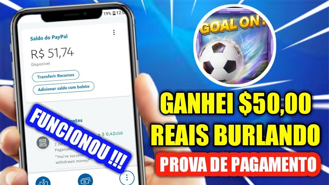GANHEI $50 REAIS BURLANDO O GOGOAL !!! COMO BURLAR O GOGOAL E GANHAR $10 DÓLARES FÁCIL | FUNCIONOU