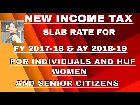 Income tax slab rate for FY2017-18 and AY 2018-19 | new income tax slab rate 2017-18