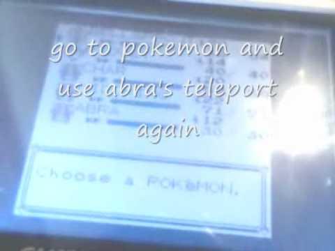 pokemon blue & red mew glitch (need abra)