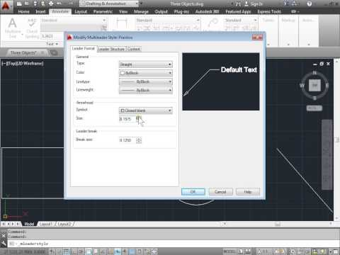 C00809  Multileader Style Manager AutoCAD 2014 Tutorial