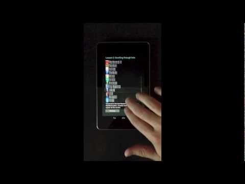 Google Nexus 7 Android 4.1 JellyBean Accessibility TalkBack Explore by Touch Tutorial