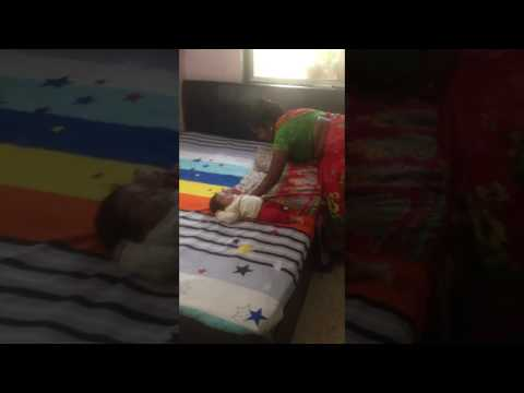 How to swaddle a baby after massage / indian style swaddling of baby/malishwali swaddle a baby