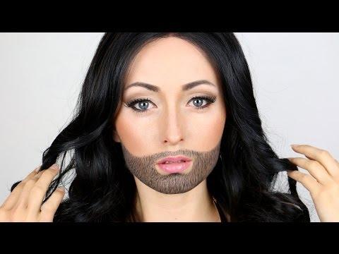 Halloween Makeup: GIRL WITH A BEARD!?