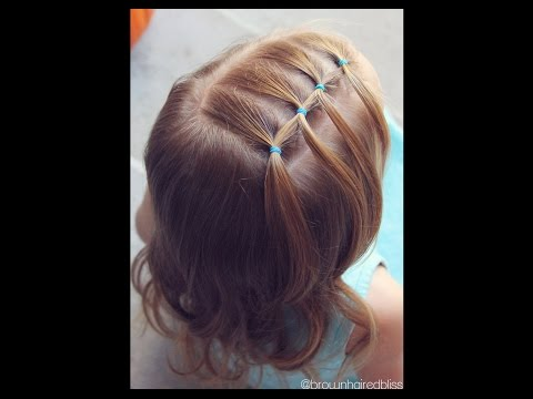 How to: Feathered Elastic - Toddler Hairstyle Tutorial   Brown Haired Bliss