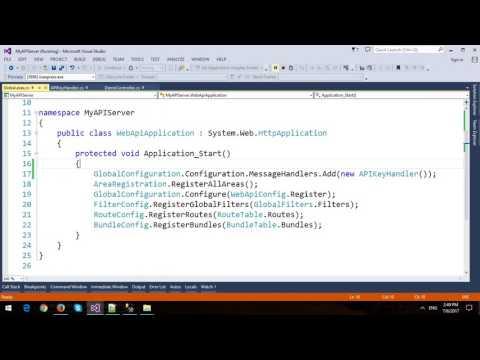 Secure ASP.NET Web API using API Key Authentication