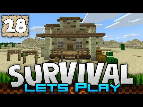 BUILDING A BANK!!! - Survival Let's Play Ep. 28 - Minecraft 1.2 (PE W10 XB1)