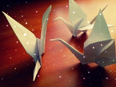 DIY Origami Paper Crane. For Beginners Children. How To Make Crane Easy. Tutorial