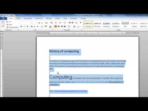 How to Remove Formatting in Word