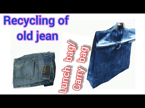 Best use of old jeans | Recycle old jeans | old clothes idea | Recycling idea | Carry Bag| Lunch bag