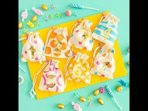 DIY Easter Treat Bag Countdown Calendar