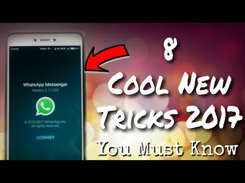 8 Cool New Tricks of WhatsApp 2017 | You should know | in Hindi