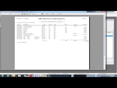 Sage BusinessVision 2014 Update 1 New Features: Void Transaction