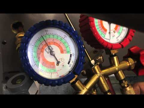 Checking system pressures using a gauge set
