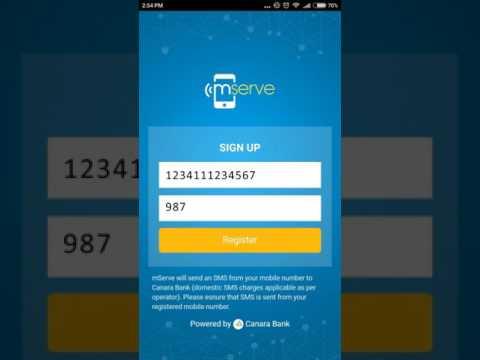 Canara Bank Mserve application registration procedure in Hindi
