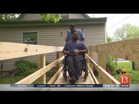 Volunteers build custom-made wheelchair ramps for Hoosiers