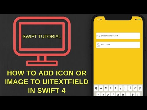 Add icon or image to UITextField in Swift 4 (Xcode 9.2)