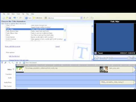Using Windows Movie Maker - E03 - Create Title Pages and Credits - iSkills.mov