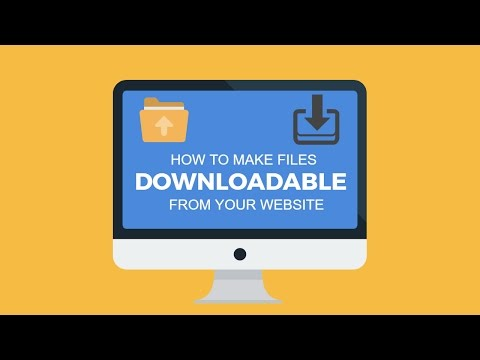 How to Make files Downloadable from Website for Free