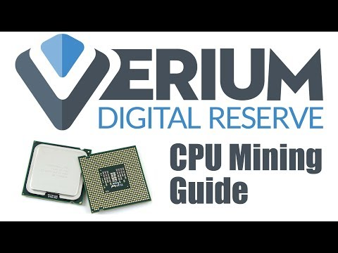 How To CPU Mine Verium Reserve (VRM). Wallet Setup & Mining Guide