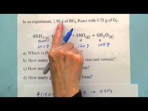 Stoichiometry: Limiting & Excess Reactant