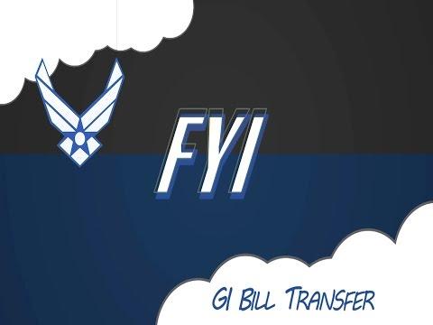 FYI: Post-9/11 GI Bill Transfer