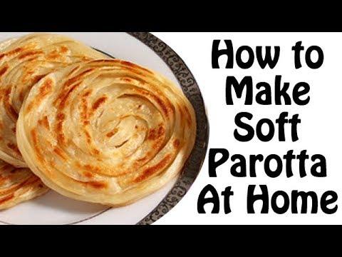 How to Make  parotta/paratha at home - Kerala style soft poratta