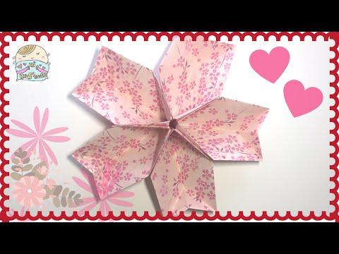 EASY Origami SAKURA Container 桜箱の折り紙 ❤ 櫻花摺紙盒 DIY