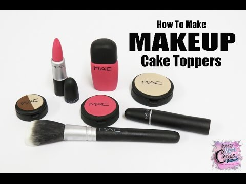 Makeup Cake Toppers - EASY HOW TO
