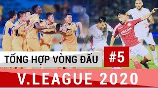 Tổng Hợp Vòng 5 V.League 2020 | Văn Đức cùng đồng đội LÊN ĐỈNH; Công Phượng, Tiến Linh Chói Sáng