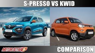 Maruti S-Presso Vs Renault Kwid | Hindi | MotorOctane