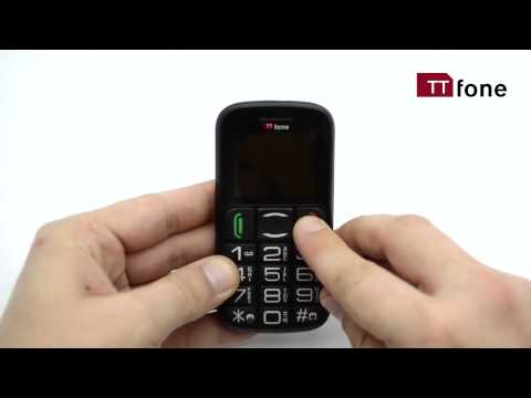 TTfone Mercury 2 - Big Button Basic Senior Mobile Phone - Simple Unlocked Sim Free - Black with Dock