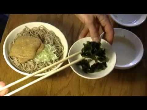 How to cook soba noodles, kitsune soba,how to make  soba soup
