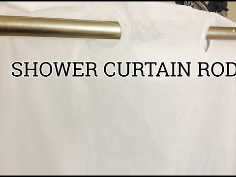 SHOWER ROD INSTALLATION | HOW TO ADJUST THE LENGTH
