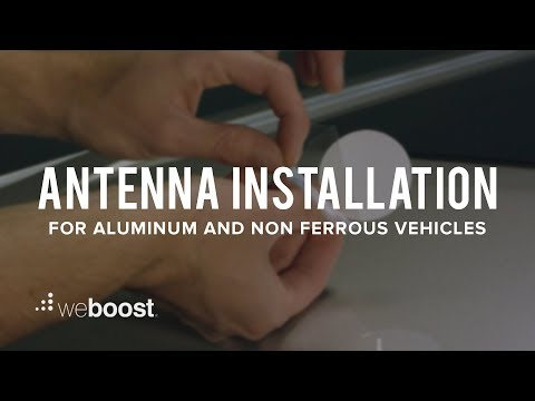 Antenna Installation For Aluminum or Non Ferrous Trucks And Cars | weBoost