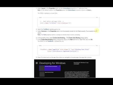 Windows 8 Development - Data Binding Grid Title