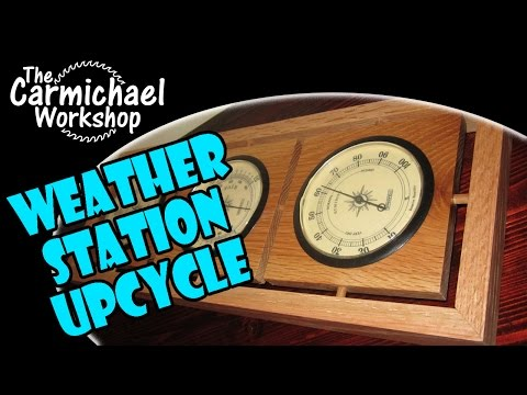 Upcycled Weather Station - DIY Thermometer, Barometer & Hygrometer Frame