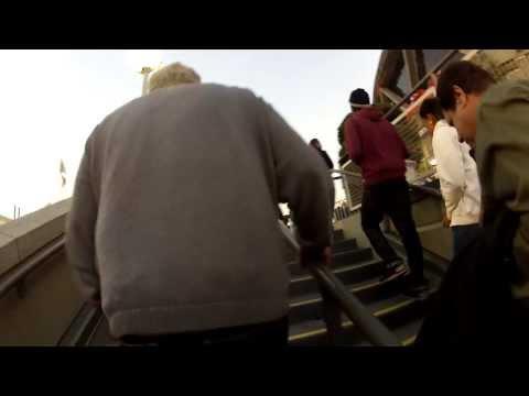 Walking into Warriors Game GoPro