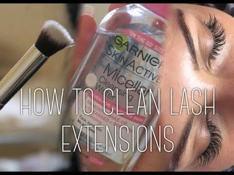 HOW TO CLEAN LASH EXTENSIONS