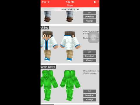 How To Get Minecraft PE skins without ifile ( only for the new update 0.11.1)