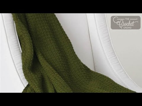 How to Crochet An Afghan: Simple Texture Blanket