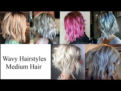 Wavy Hairstyles for Medium Hair | Wavy Hairstyles You Should Try - Shoulder Length Curly Hair Weave