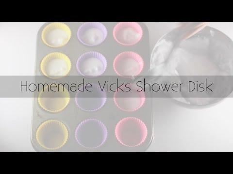 Homemade Vicks Shower Disks