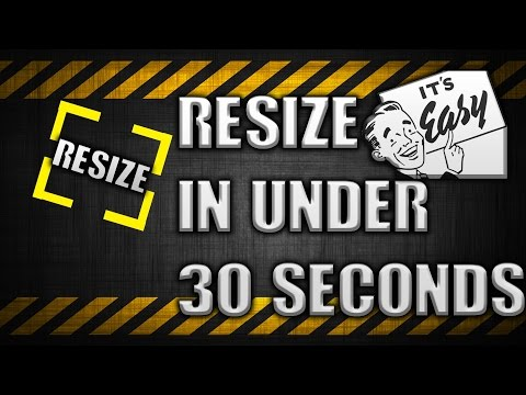 How to Resize an image easily quickly in under 30 seconds! - Easy and Free