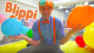 Blippi Learns Rainbow Colors With Balloons | Educational Videos For Kids